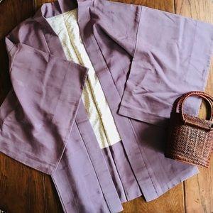 Jackets & Blazers - 💜Vintage Silk Kimono Festival Boho